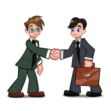 mutually: cartoon handshake Illustration