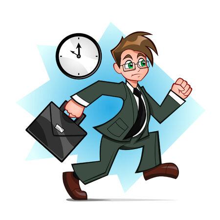 running businessman Vector