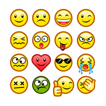 wink: classic smileys Illustration