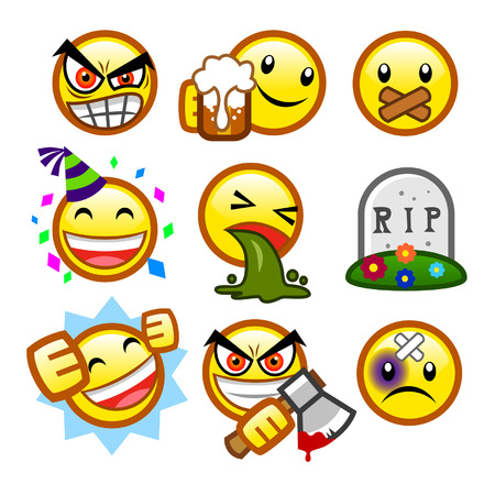 maniac: classic smileys set 4 Illustration