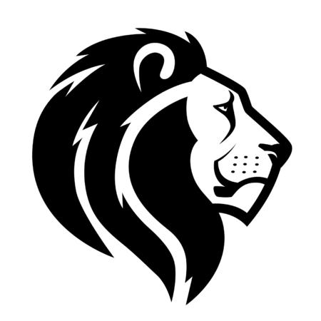 africans: lion head symbol Illustration