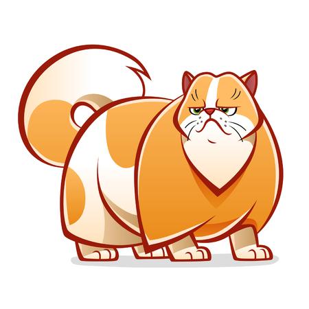 persian cat: Cartoon persian cat