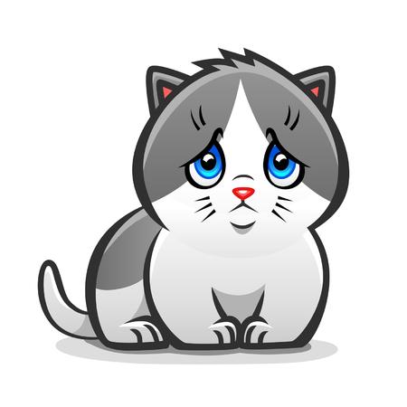 슬픈 고양이 일러스트