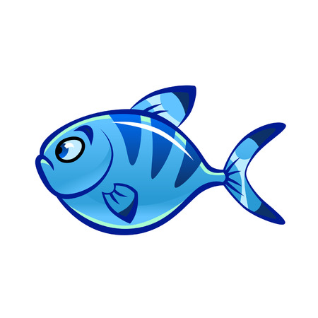 blue fish: cartoon blue fish