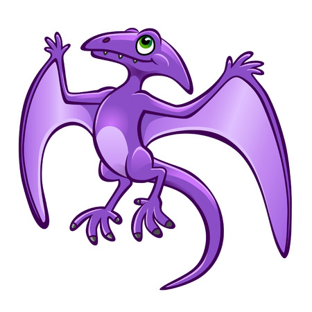 pterodactyl: cartoon pterodactyl