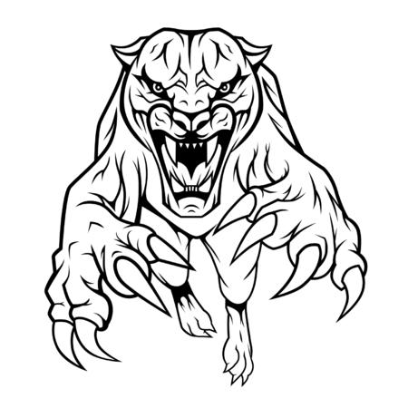 jaguar: Saltando el gato montés