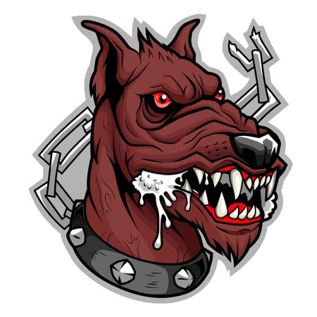 Brown mad dog Illustration