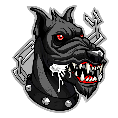 Mad black dog Vector