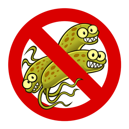 anti bacterium sign Illustration