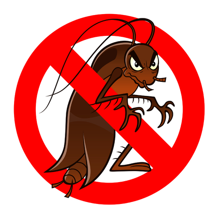 controlling: anti cockroach sign