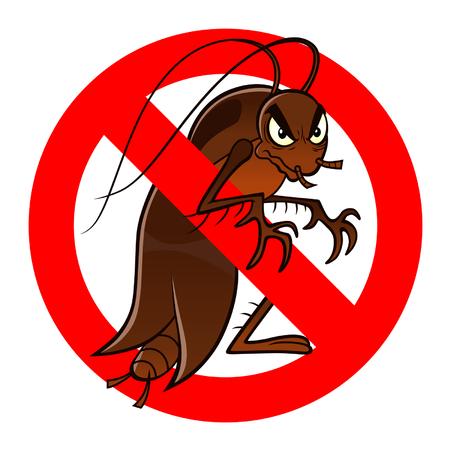 anti kakkerlak teken Stock Illustratie