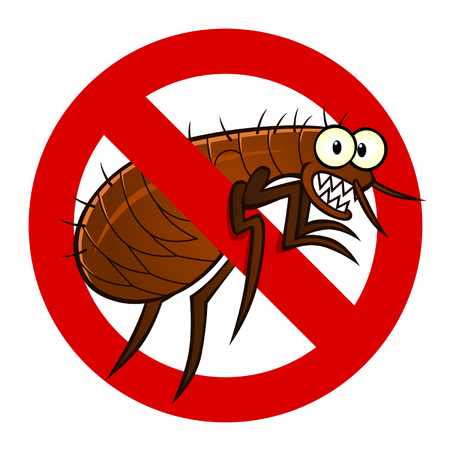 flea: signo contra pulgas Vectores