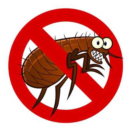exterminate: signo contra pulgas Vectores