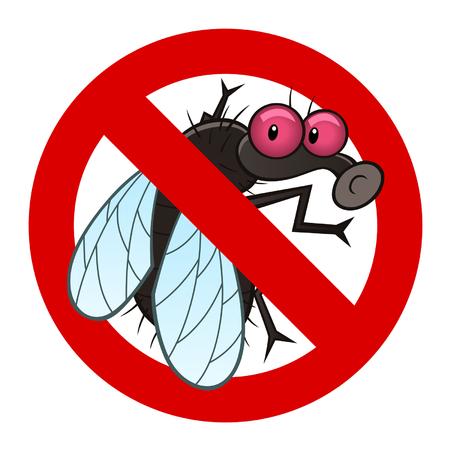 La lutte contre la mouche signe Banque d'images - 30148668