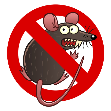 rat cartoon: signo anti-ratón