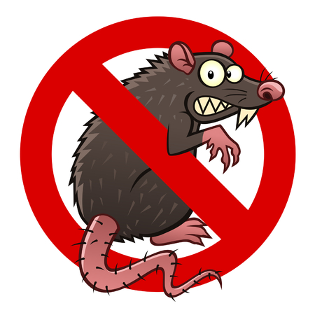 anti rat sign Ilustracja