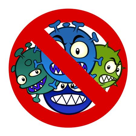 infektion: Anti-Viren-Zeichen