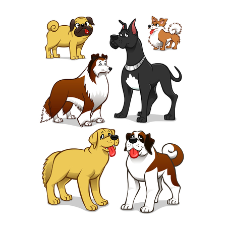 Cartoon dogs Vector