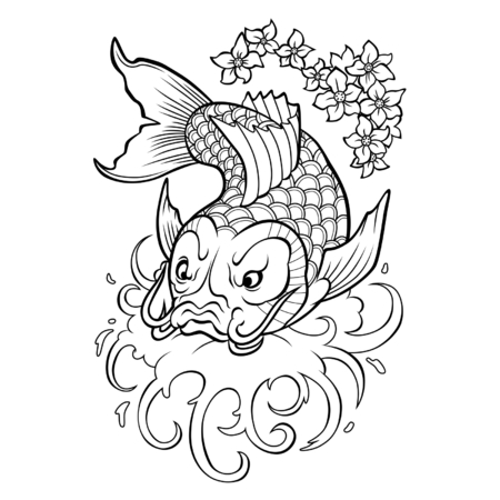 poisson koi: Carpes Koi  Illustration