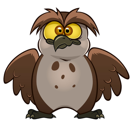silly: funny owl