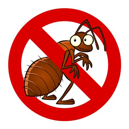 hormiga caricatura: contra signo de hormigas