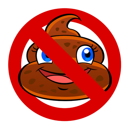 anti poo sign Vector