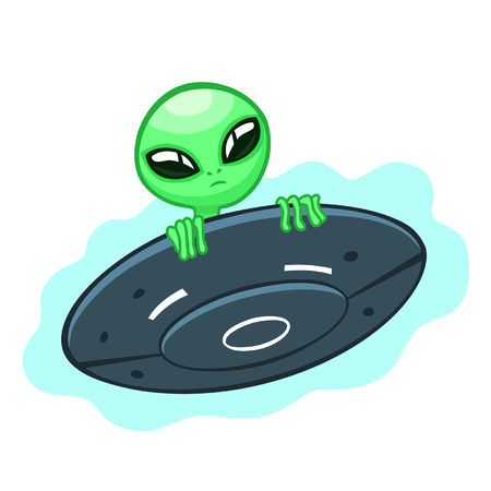 flying saucer: alien in flying saucer