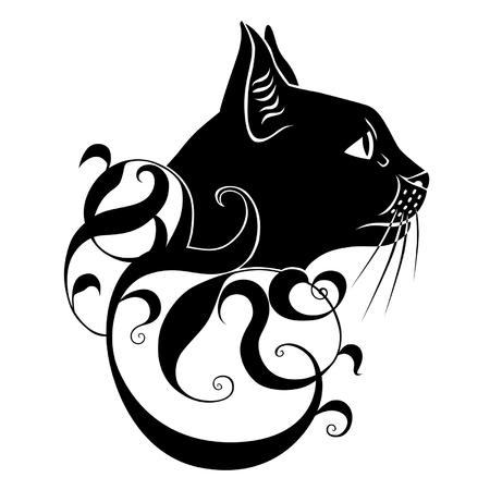 decoración gato negro