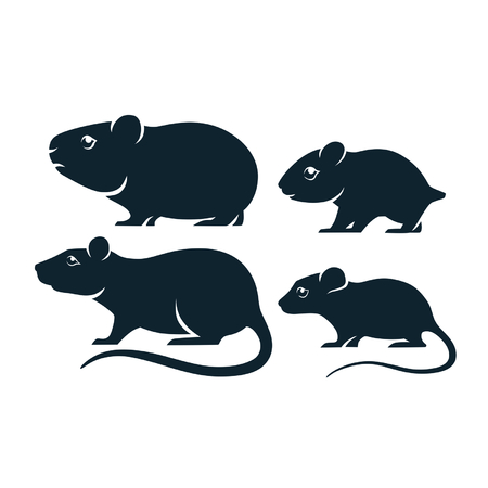 guinea: rodents icons Illustration