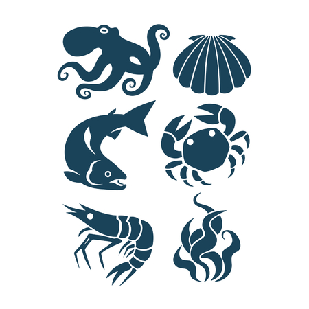 sea life and food icons