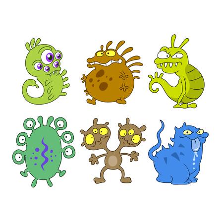 protozoa: cartoon germs