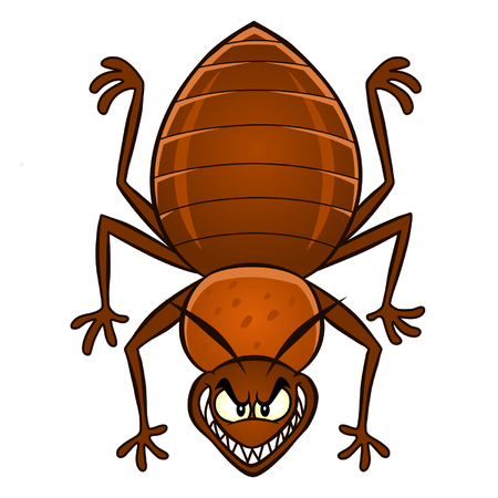 bedbug: Cartoon bedbug