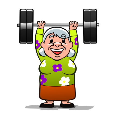 pensioner: Strong old lady