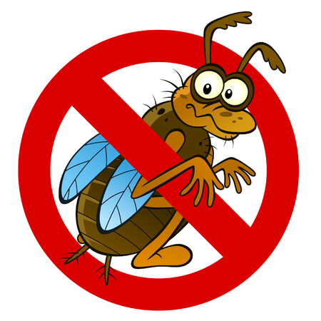 Anti abstract insect sign Illustration