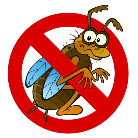 exterminate: Lucha contra insectos signo abstracto Vectores