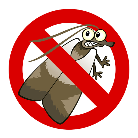 exterminate: Anti moth sign