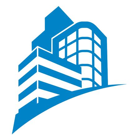 ビジネス建物記号  イラスト・ベクター素材