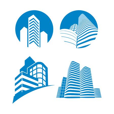 Wolkenkratzer Zeichen Standard-Bild - 32368890