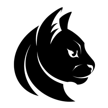 side profile: Cat head symbol
