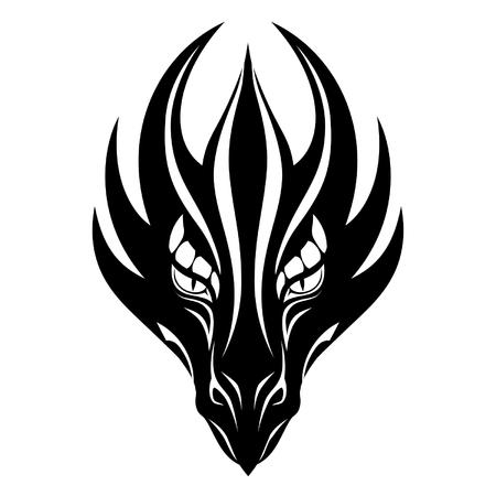 Dragon gezicht symbool