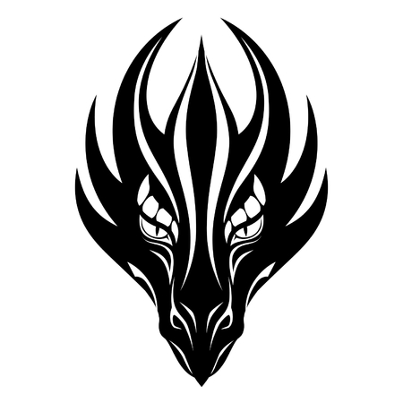 Smok symbol twarz