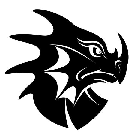 cabeza de dragon: Drag�n s�mbolo cabeza