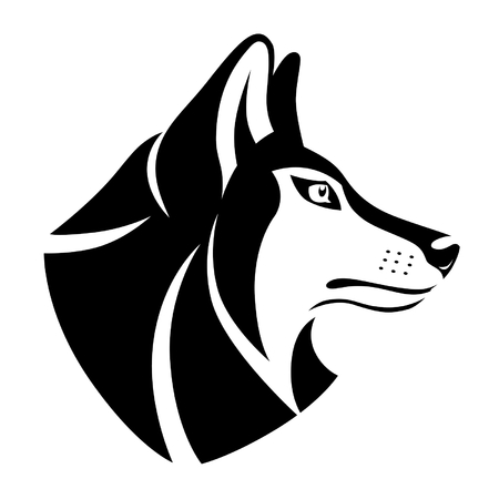 Wolf head symbol Vettoriali