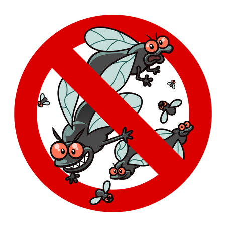 exterminate: Anti blackfly sign