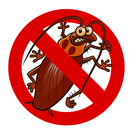 exterminate: No cockroaches sign Illustration