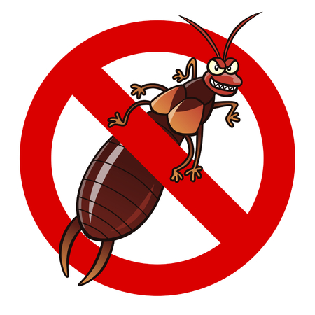 exterminate: Anti earwig sign Illustration