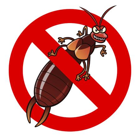 exterminate: Anti earwig sign Illustration