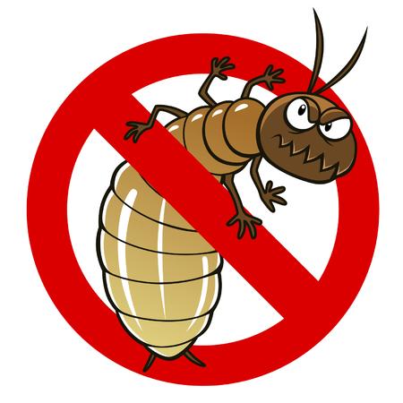 Znak przeciw termitów Ilustracje wektorowe