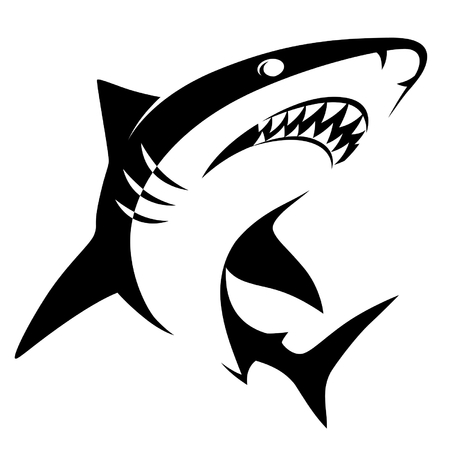 simple fish: Shark sign