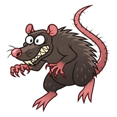 Evil rat Vettoriali
